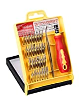 32 in 1 screw driver set with tweezer