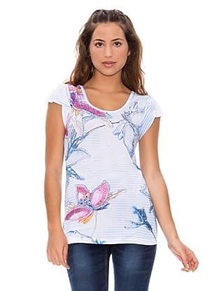 Sidecar Camiseta Irene (Azul / Blanco / Rosa)