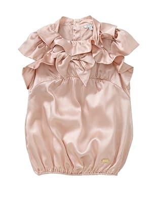 Roberto Cavalli Angels Girls' Ruffle Bow Top (Rose)