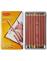 Derwent Soft Coloured Drawing Pencils - Set of 12