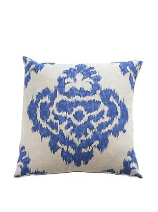 Filling Spaces Blue Print Pillow, Blue
