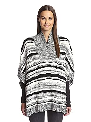 525 America Women's Hand Knit Striped Poncho