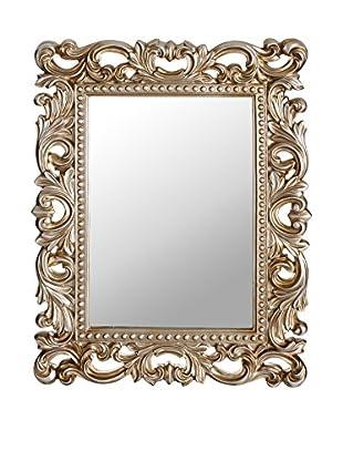Romantic Style Espejo de Pared Classic Plata