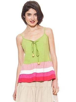 La Casita de Wendy Camiseta Rayas (Verde)