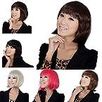 MAYSU High Quality Short wigs Women's Charming Fashion charming synthetic full wigs + a free MAYSU wig cap Dark Brown AD