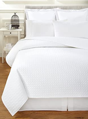Vera Wang Double Diamond Quilt (White)