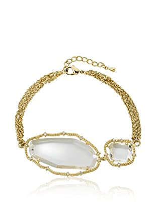 Riccova Four-Strand Clear Sliced Glass Bracelet