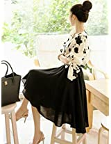 OnlyUrs Embroidered Top With Mid-Length Skirt Two Pieces Dress For Women