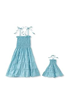 Me & Dolly by 4EverPrincess Girl's Gypsy Dress (Blue)