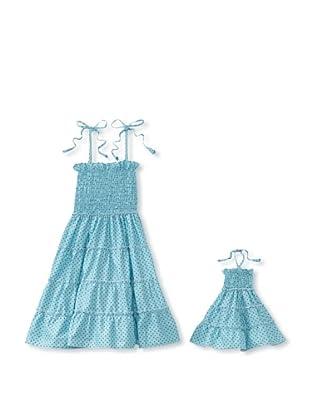 Me & Dolly by 4EverPrincess Girl's Gypsy Dress (Blue)