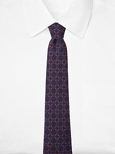 Hermès Men's Rings Tie, Navy, One Size