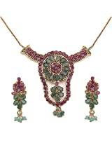 20.50 Grams Green & Red Cubic Zircon Pendant Sets