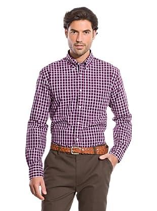 Cortefiel Camisa Vichy (Frambuesa)
