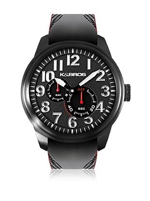 K&BROS Reloj 9460 (Negro Rojo)