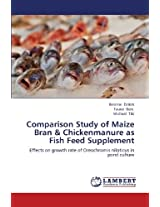 Comparison Study of Maize Bran & Chickenmanure as Fish Feed Supplement