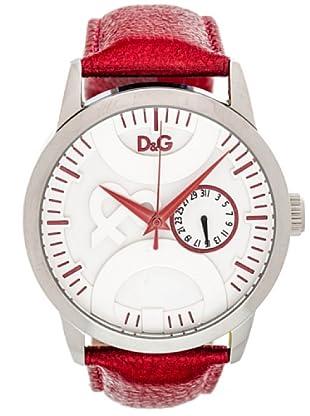 D&G DW0701 Reloj unisex piel Rojo