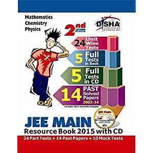 JEE Main 2015 Resource Book: Solved 2002-2014 Papers + 24 Part + 10 Mock Tests (with CD)
