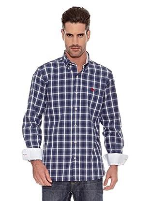 Toro Camisa Estampada Cuadros (Azul / Gris)