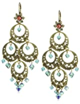 "Liz Palacios ""Crystales Opalos"" Turquoise-Color Crystal Chandelier Earrings"