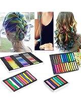 Colors Easy Fast Temporary Hair Chalk Dye Crayon Salon Kit Set Usa