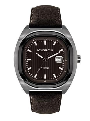 K&BROS 9451-3 / Reloj de Caballero  con correa de piel Marrón