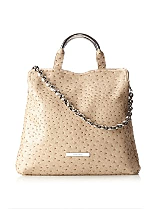 Ivanka Trump Women's Grace Ostrich Top Handle Shopper, Beige