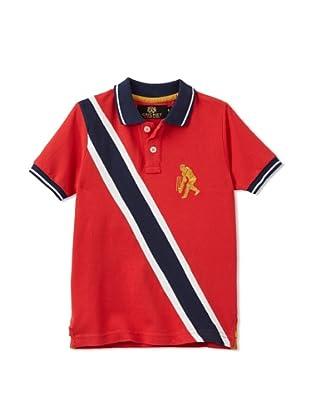Sher Singh Boy's Double Diagonal Polo (Red)