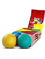 Guru Laser Cricket Rubber Balls (Pack of 10 pcs, All Colours)