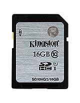 Kingston Digital SDHC Class 10 UHS-I 45R/10W Flash Memory Card (SD10VG2/16GB)