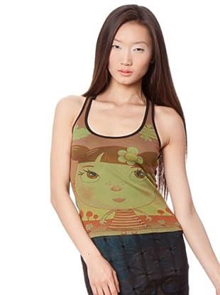 Custo Camisa (Marrón / Verde)