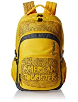 American Tourister Hoola 2016 27 Ltrs Yellow Casual Backpack (8901836128628)