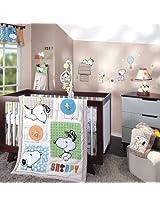BFF Snoopy 5 Piece Baby Crib Bedding Set plus FREE Sheet Saver by Lambs & Ivy