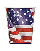 9oz Old Glory Patriotic Paper Cups, 8ct