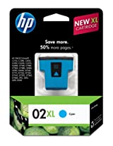 HP 02XL Ink Cartridge (Cyan) In Retail Packaging