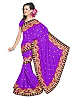 Chandra Silk Mills Saree (CH449_Purple)