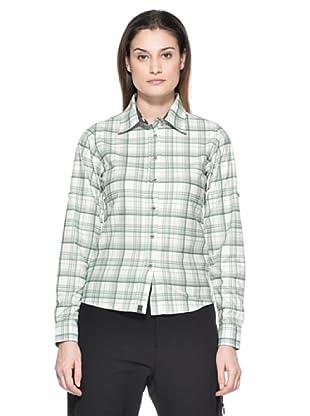 Salewa Camisa Molignon Pl W L/S Srt (Blanco / Verde)
