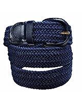 Luxury Divas Navy Blue Braided Elastic Stretch Belt Belt Size XXX-Large (50-52) AD