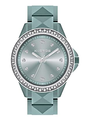 K&BROS 9565-3 / Reloj de Señora  con brazalete metálico azul claro