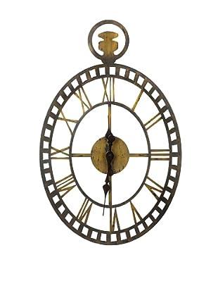 Cooper Classics Malibu Wall Clock, Rustic Bronze/Gold