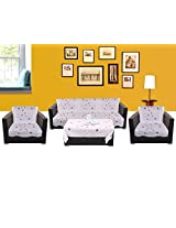 WSB Patti 11 Piece Polyester Sofa Cover Set - White 65x57 CM