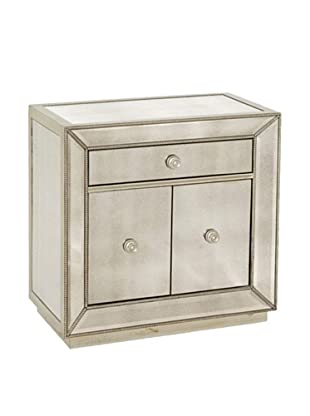 Bassett Mirror Murano Small Chest, Antique Mirror