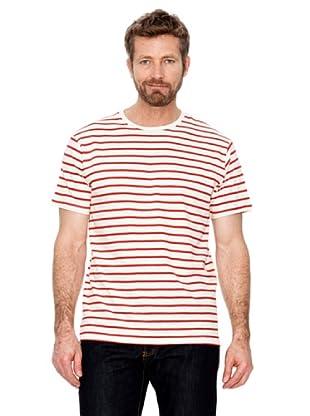 Cortefiel T-Shirt Streifen (Rot)