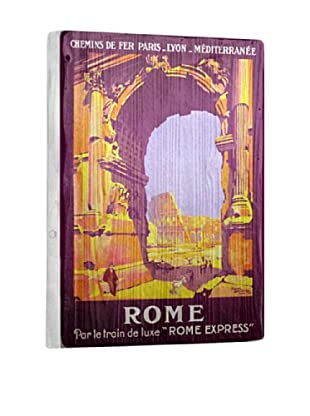 Artehouse Rome Express Reclaimed Wood Sign