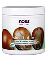 Now Foods 100% Pure Organic Shea Butter, 7 Ounce