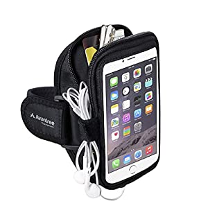 Avantree iPhone 6 6S Plus Sweatproof Armband, for Samsung Galaxy Note 5 S5, Google Nexus 6P, with key holder and card pouch, for Running Gym Jogging Exercise Sports - Trackpouch