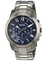 Fossil End of Season Grant Chronograph Blue Dial Men's Watch - FS4831