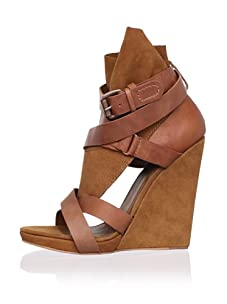 Joe's Jeans Women's Helena Wedge Sandal (Cognac)