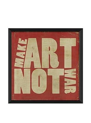 The Artwork Factory Make Art Not War Framed Giclée, Red