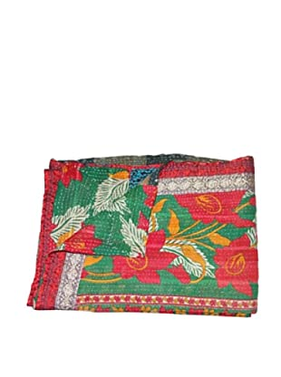 Large Vintage Navneet Kantha Throw, Multi, 60