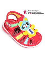 Cute Walk Baby Sandals - Baby Panda Applique